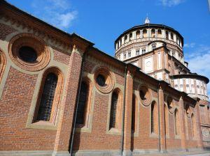 The church of Santa Maria delle Grazie, Piazza Santa Maria delle Grazie, Milan, Italy